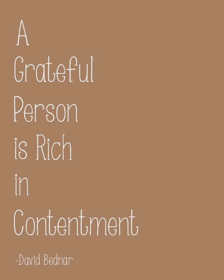The Power of Thanksgiving - Rich in Contentment