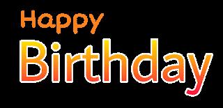 happy birthday logo png