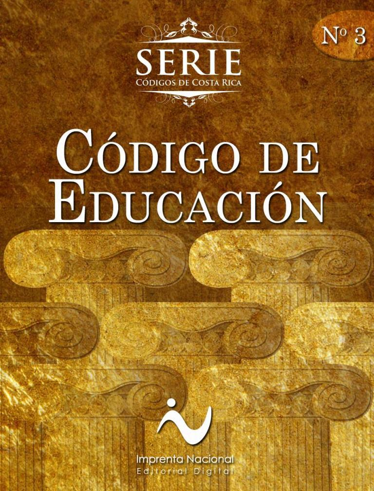 Código de Educación [Imprenta Nacional]