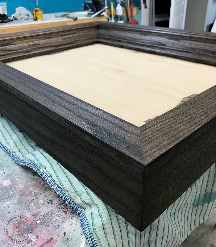 Industrial Coffee Table Dark Walnut Stain