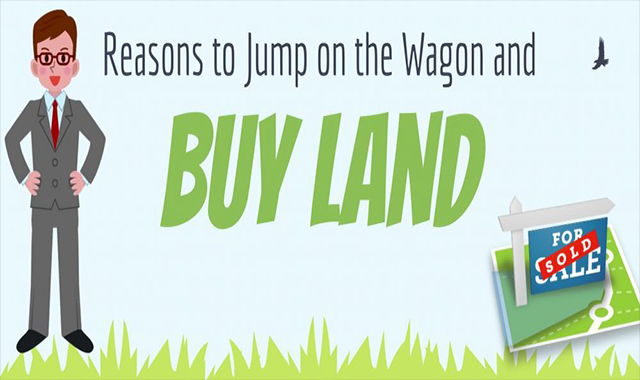 Reasons for jumping on the car and buying land #infographic
