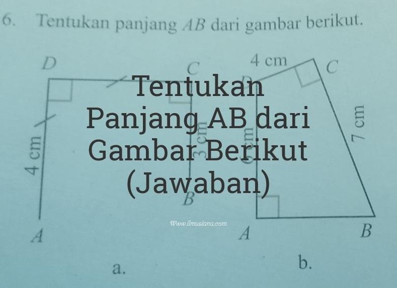 tentukan panjang AB dari gambar berikut