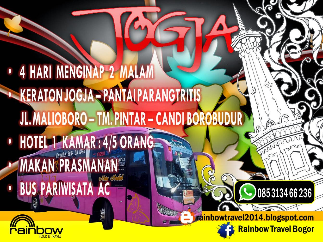 Derainbow Tour Organizer Rent A Bus Wisata Ke Jogja Murah