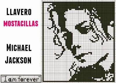 Llavero Michael Jackson con Mostacillas