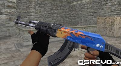 Skin AK 47 - Stainless - HD CS 1.6, cs go skins, AK47