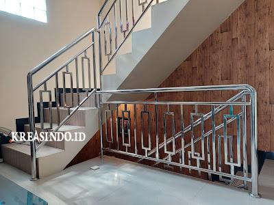 Railing Balkon Stainless dan Balkon Kaca Stainless pesanan Bpk Hendri di Permata Cimanggis Depok