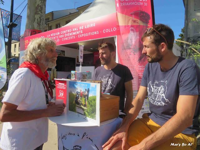 """Rencontre avec les """"Colibris"""" de Solidex que nous avons reçu en 2017, lors de leur descente de Loire en canoë"""