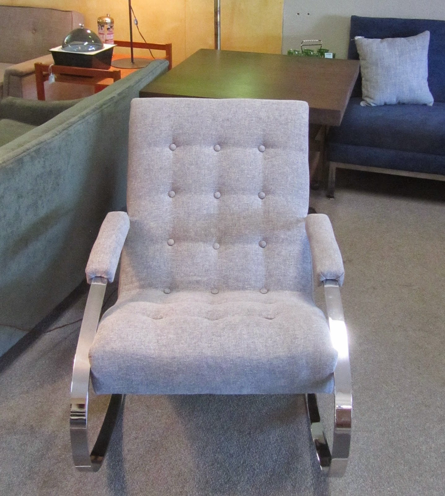 custom rocking chairs texas dream chair swing hammock remnant upholstered chrome