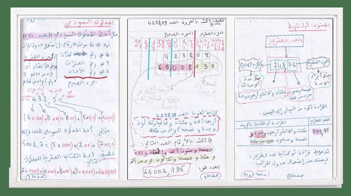 درس العدد العشري في الرياضيات للسنة الأولى متوسط