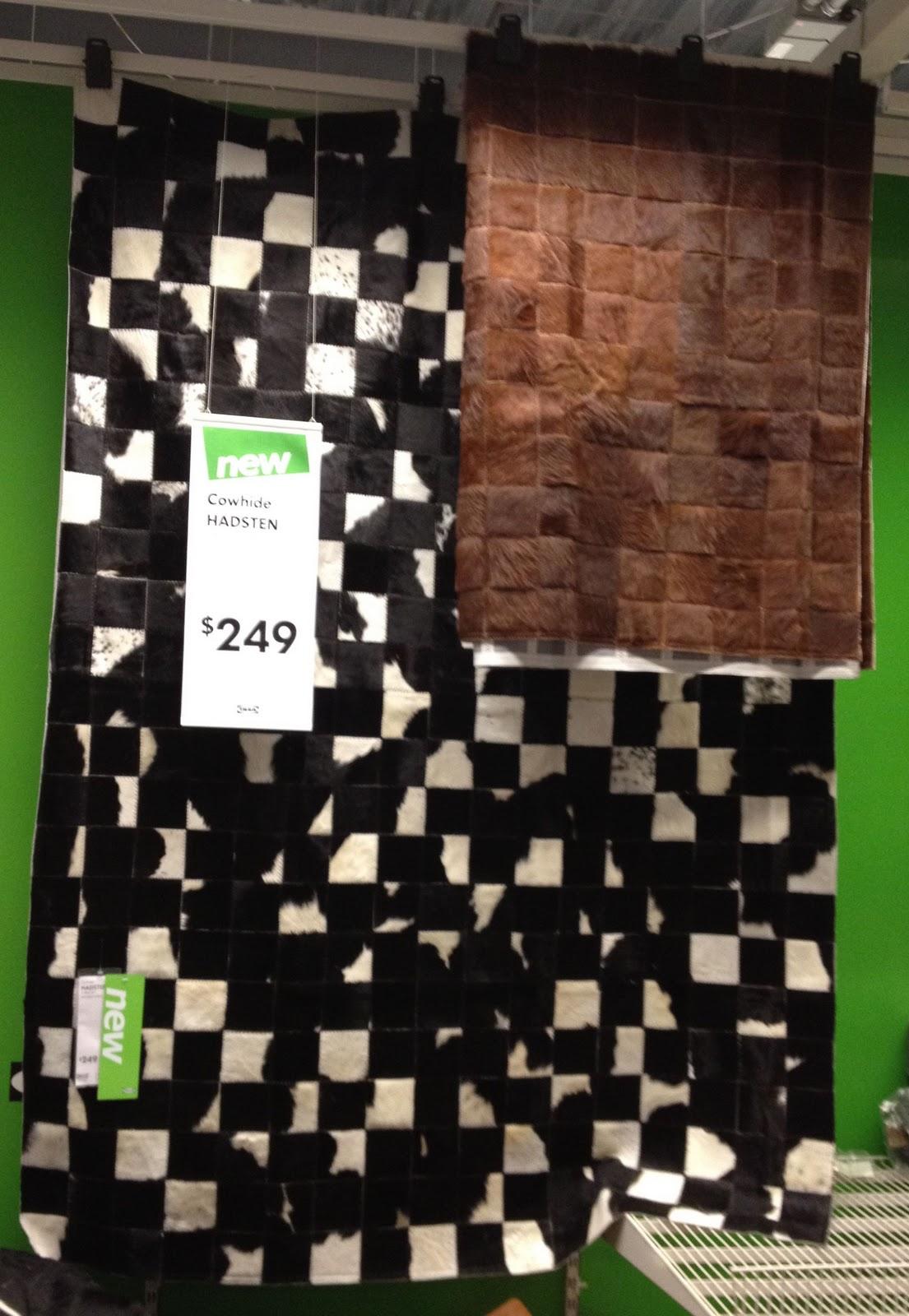 ikea hadsten mosaic cowhide rugs