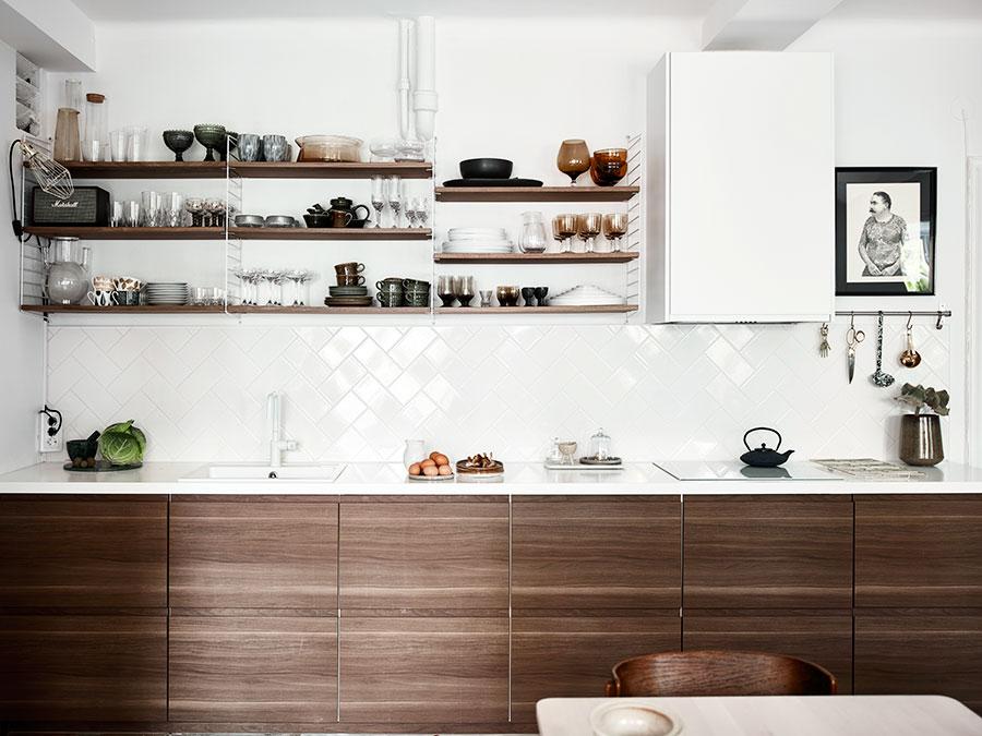 D jak design dom wn trze lifestyle zielona ciana w kuchni - Mensola cucina ikea ...