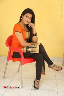 Telugu Actress Chandana Stills in Salwar Kameez at Karam Dosa Movie Press Meet  0094.JPG