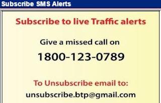Traffic Alerts - SMS bangalore traffic live alerts