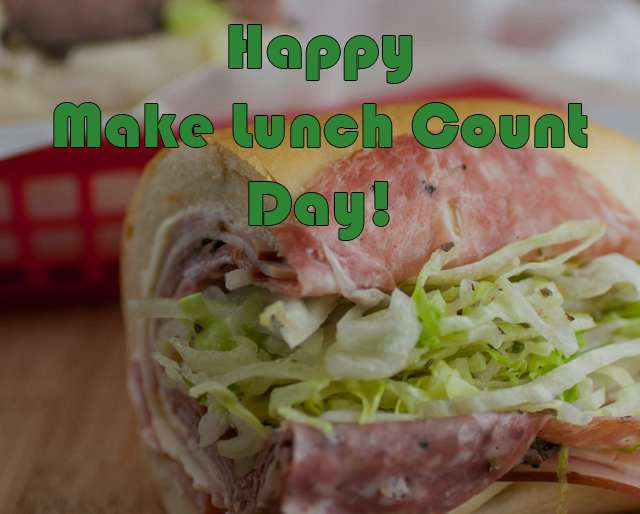 National Make Lunch Count Day Wishes Images download