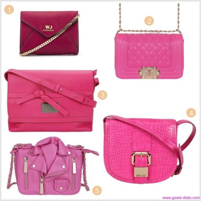Bolsas cor de rosa ou pink