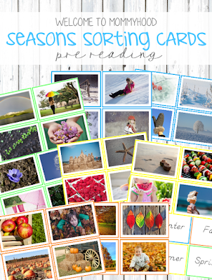 Seasons sorting cards