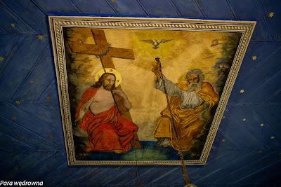 Malowidło na suficie nad ikonostasem