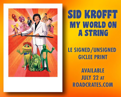 """San Diego Comic-Con 2021 Exclusive """"Sid Krofft: My World On A String"""" Fine Art Giclee Print by Sam Gilbey x Road Crates"""