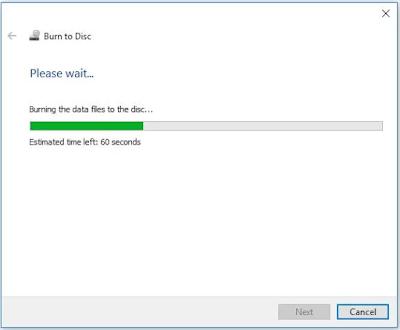 cara memasukan file atau burning kedalam CD maupun DVD tanpa software