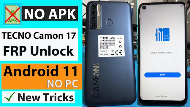 Tecno Camon (CG6j) FRP Bypass Google lock App Not Installed NO PC