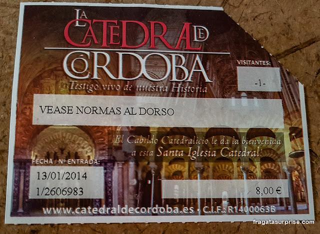 Ingresso para a Mesquita de Córdoba