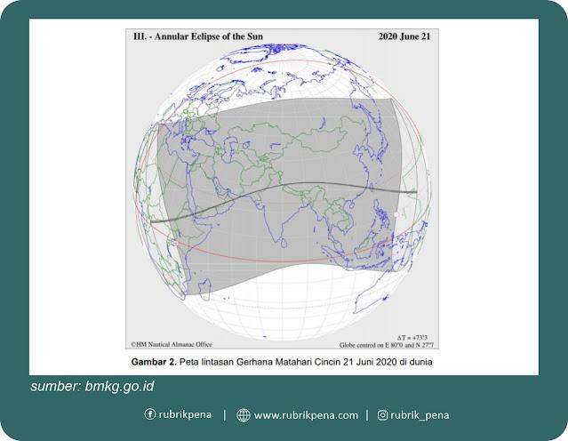 gerhana matahari cincin 21 Juni 2020