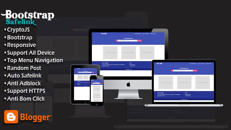 Safelink Bootstrap Pro Blogger Template