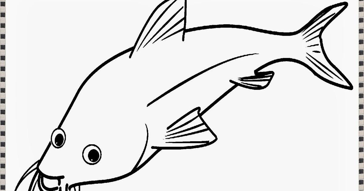contoh gambar mewarnai gambar ikan goreng