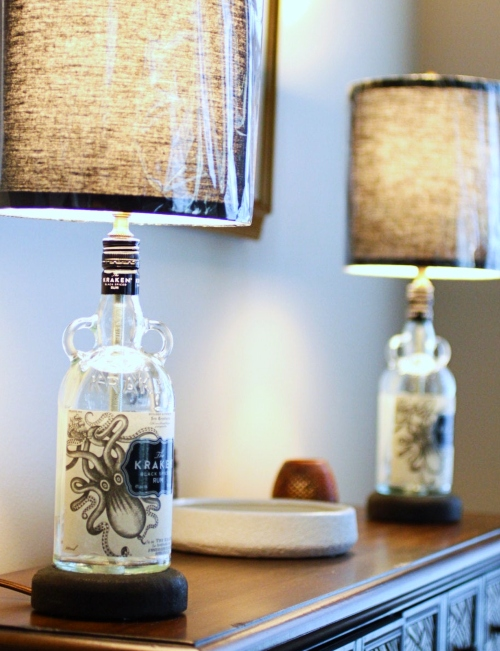 Kraken Bottle Lamp