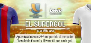 bwin 5 euros por gol Barcelona vs Real Madrid 13 agosto