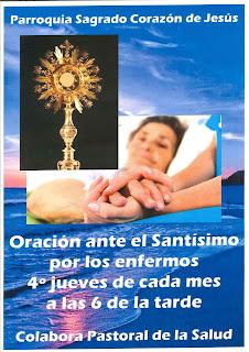 Jueves, 24-X-2019, adoración por los enfermos