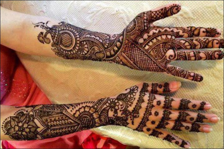 Mehndi Front Hand : Stylish bridal mehndi designs for full hands front and back