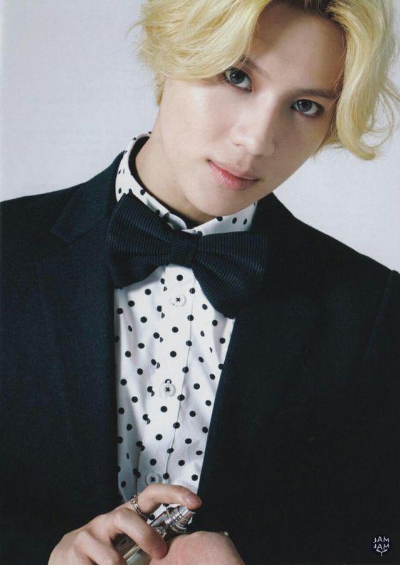 shinee taemin blonde haircolor