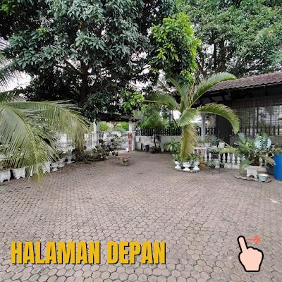 Halaman Depan Rumah Luas Tanah 456 m2 lokasi sekitar Jalan Ayahanda Medan