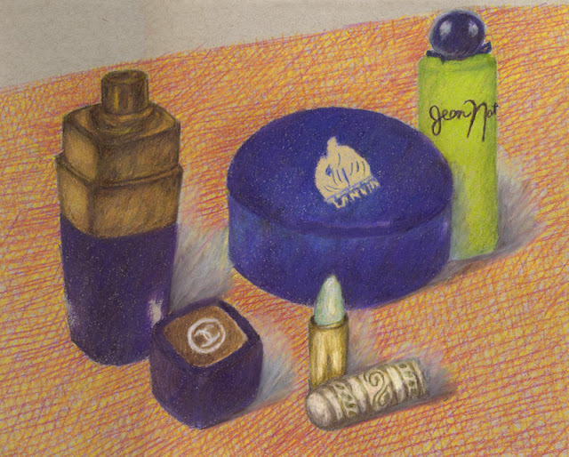 Colored pencil drawing -- perfume