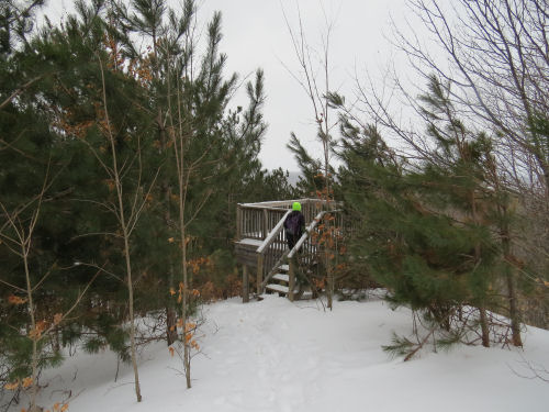 observation deck on the North Country Trail