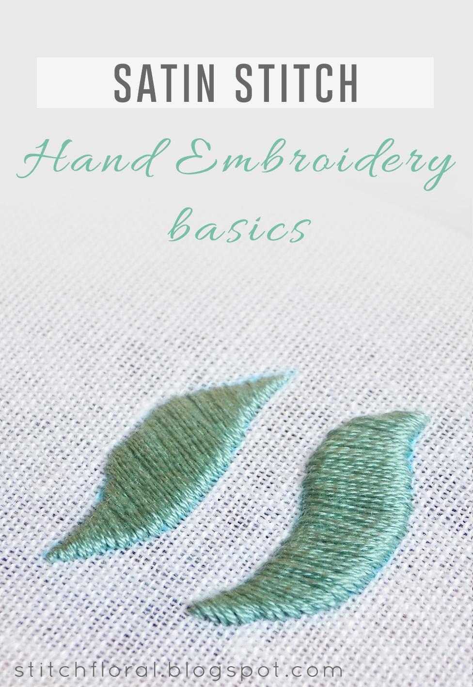 Padded Satin Stitch : padded, satin, stitch, Classics, Embroidery:, Satin, Stitch, Floral