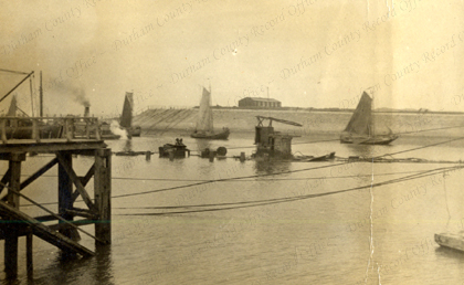 A view of the wreck of HMS Intrepid taken at Zeebrugge, April 1920 (D/DLI 7/602/8(16))