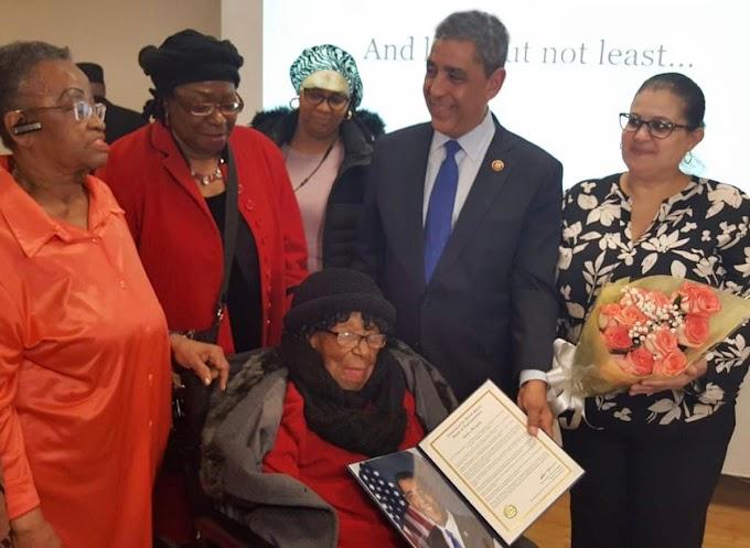 Una activista de 113 años de edad y otras mujeres descollantes reconocidas por el congresista Espaillat
