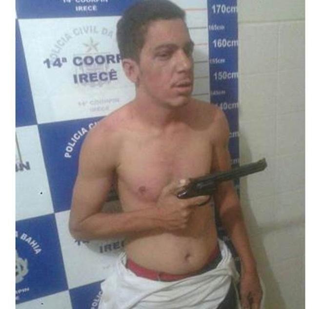 Suspeito de tentativa de homicídio é preso pela polícia em Irecê