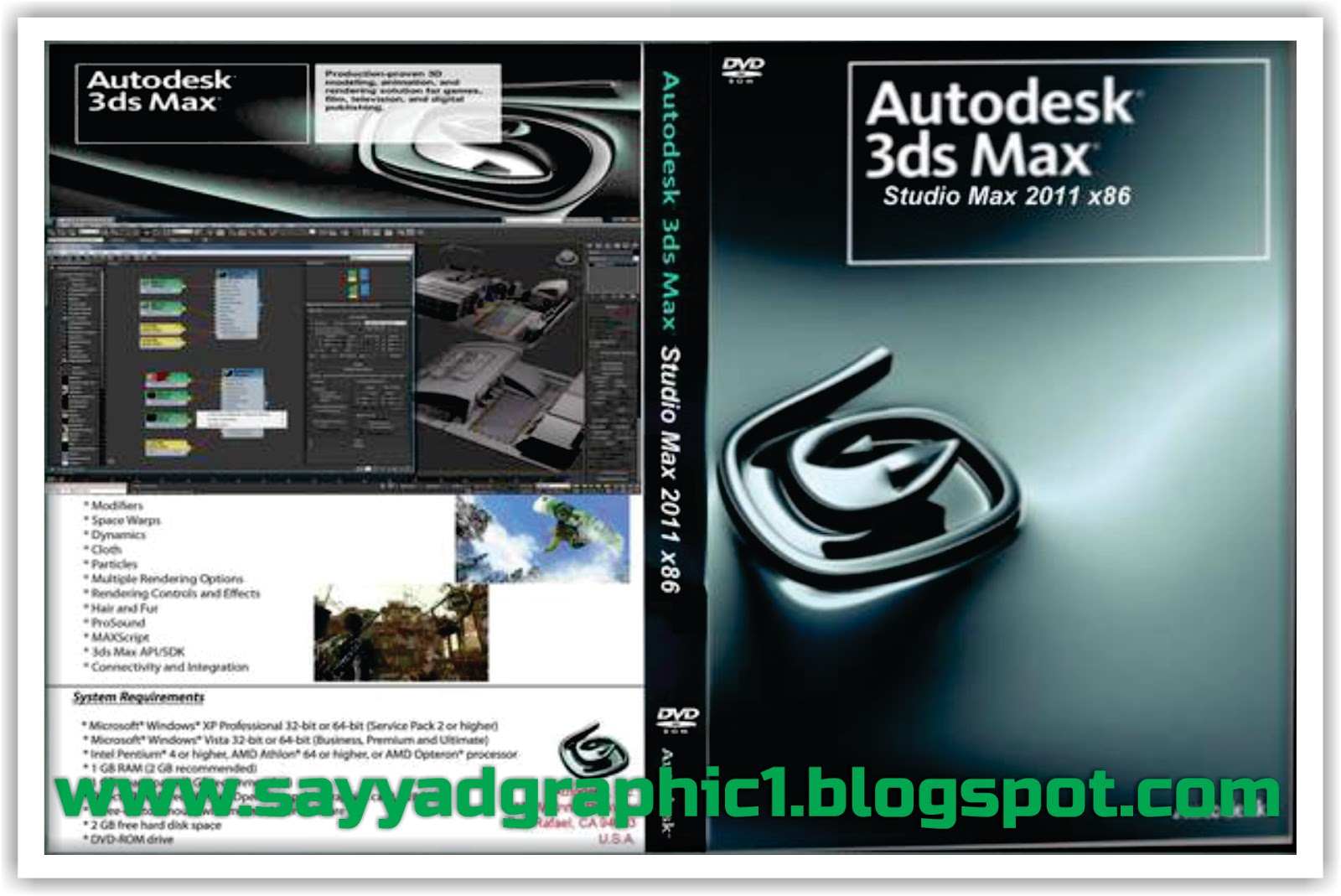 Download free Autodesk 3ds Max 9  bit 9.0