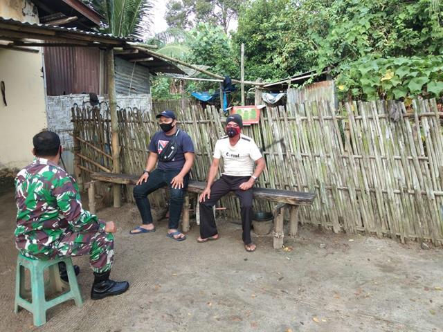 Berikan Himbauan Kepada Warga Dilakukan Personel Jajaran kodim 0207/Simalungun Cegah Penyebaran Covid-19