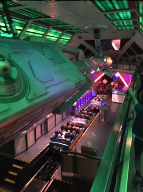 Disneyland Space Mountain interior