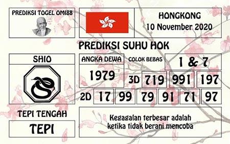 Prediksi Togel Omi88 HK Selasa 10 November 2020