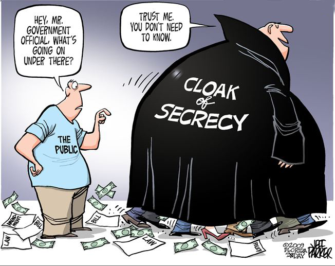 Cloak of secrecy
