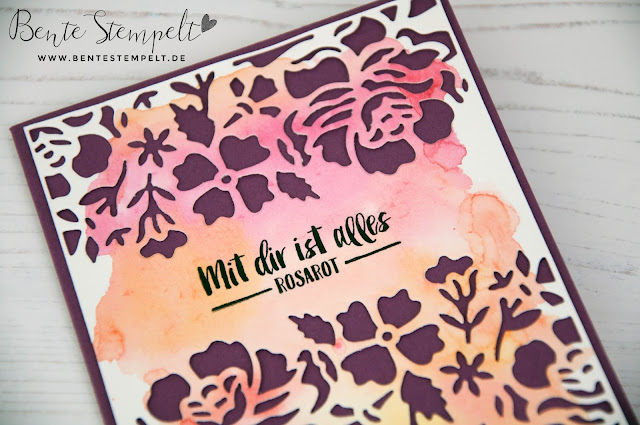 Stampin Up Bente Stempelt Big Shot Framelits Thinlits Blumen Rosen Florale Fantasie Mit dir ist alles rosarot Aquarellpapier Aquarellfarben watercolor