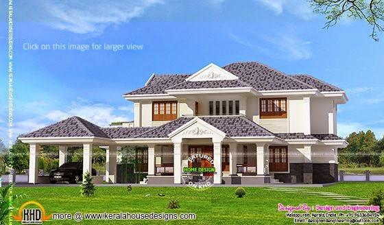 Left side elevation of villa