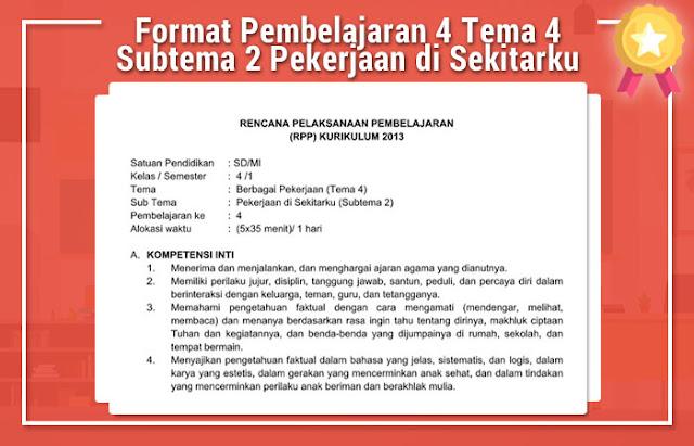 Format Pembelajaran 4 Tema 4 Subtema 2 Pekerjaan di Sekitarku