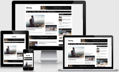 Glossy Responsive Blogger Template 2016