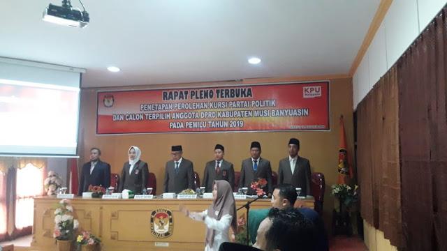 Usai Putusan MK, KPU Muba Gelar Rapat Pleno Terbuka